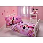 Minnie Mouse Flower Garden 4-Piece Toddler Bedding Set