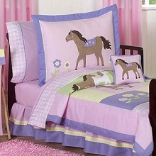 Pink Themed and Popular Toddler Bedding Sets for Girls plus Bed