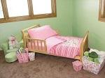 Trend Lab 4 piece toddler bedding set, pink for girls
